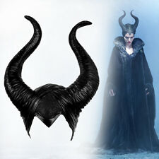 Halloween Cosplay Maleficent Hat Horns Evil Queen Headpiece Headwear Costume Cap