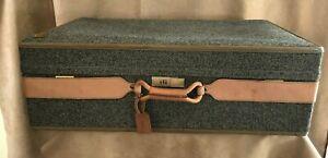 Hartmann Tweed Vintage Suitcase Luggage leather hardcase 32 x 20 woodbox pullman