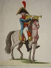 GRANDE Gravure COSTUME UNIFORME GRENADIER GARDE CONSULAT EMPIRE CHEZ JEAN 1810