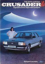 Ford Cortina Mk 5 Crusader Original UK Sales Brochure circa 1982 Pub. No. FA571