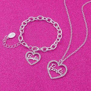 Barbie® Crystal Heart Necklace & Bracelet Set