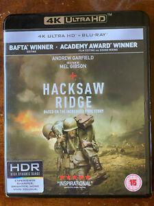 Hacksaw Ridge 4K UHD + Blu-ray 2016 World War II Movie Classic