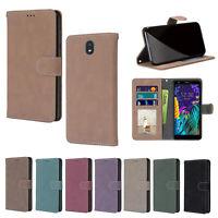 For LG Stylo 5/4/V40/V50/Q60/K30/K20 Retro Leather Card Holder Phone Case Cover
