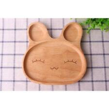 Cute Beaming Rabbit Plate Food Divided Dish Kids Children Feeding Tray Home