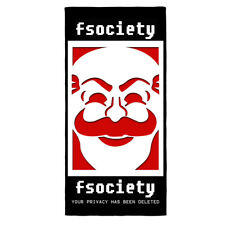 Riesig Fsociety Mr Roboter Badetuch E Corp Hacker Collective Anarchie TV Serie