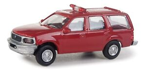 Walthers HO Scale Ford Expedition Special Service (SSV) Fire Command Decals/Red