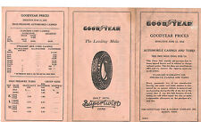 VINTAGE 1932 GOODYEAR POCKET SIZED TIRE PRICE BROCHURE! WITH SUPERTWIST CORD!