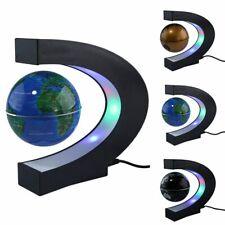 C Shape Magnetic Levitation Floating LED Earth GlobeLight Antigravity