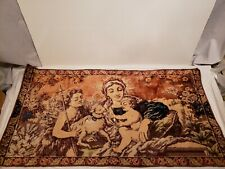 """Vintage Mary, Baby Jesus & Angel Tapestry, Made in Italy, Fabric, 40"""" x 21"""""""