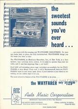 "Vintage WAYFARER Car Stereo Single Page Flyer, 8 1/4"" by 11 1/2"""