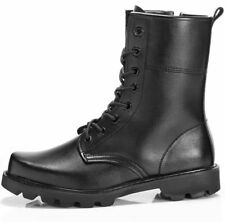 Mens  Tactical Comfort Leather Combat Military Ankle Boots Combat Shoes
