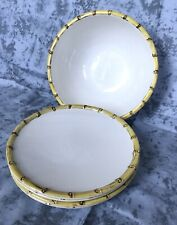 Pottery Barn Melamine Bamboo White Side Plates Serving Bowl Set Of 5 New w/o Box