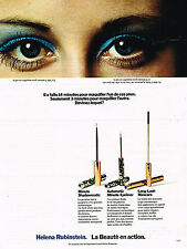 PUBLICITE ADVERTISING 084  1972  HELENA RUBINSTEIN  la beauté en action mascara