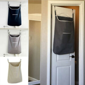 Hanging Laundry Bag Door Behind Washing Clothes Oxford Storage Basket Hamper