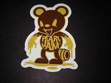 """Pearl Jam Die Cut Sticker Honey Bear New 3 X 4.5"""" tour concert merch gig cd lp"""