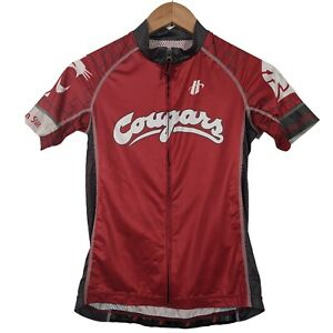 Hincapie Red Washington State Cougars Full Zip Cycling Jersey - Womens Small