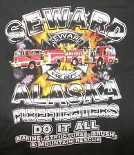 SEWARD AK Fire Department Fighter T SHIRT Marine TRUCK ENGINE Mountain Rescue