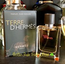 Terre D'Hermes Cologne for Men HERMÈS 12.5mL Spray PURE PARFUM ✨XXX-STRONG✨ NIB