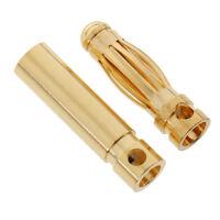 20 Pairs 3mm 3.0 Gold-plated Banana Plug Connector DIY RC Battery ESC Motor