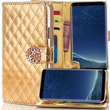 STRASS Handy Tasche Schutz hülle Apple iPhone 6 Flip Cover Case Etui Gold M903