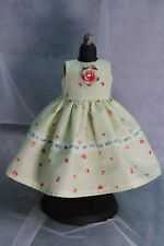 Green Floral Doll Dress for Dianna Effner Dolls and Other 13