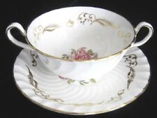 Aynsley Bone China Handled Soup Cup & Saucer - #8363 - Signed George Bentley