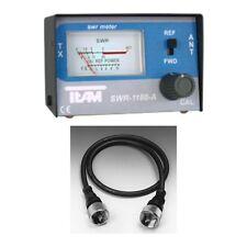 SET Stehwellenmeßgerät TEAM SWR 1180 A inkl. Verbindungskabel