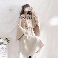 Korean version Autumn Winter Lolita Sweet Retro Dress Fashion Cloak Shawl Coat
