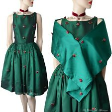 DOLCE & GABBANA D&G vintage 1990s green circle hot 1950s DRESS size UK 8 US 4 40