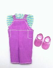 Barbie Kelly Doll Clothes Lavender Jumper Striped Top + Shoes Fashion Avenue New
