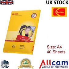 2 Pack: Kodak Glossy Photo Paper A4 (210 x 297 mm) 240 g/m2 40 sheets