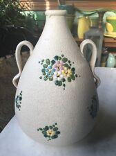 Hand Painted Italien Pottery zwei behandelt Krug von CE als Albisola Marsala Florio VTG