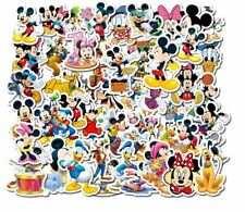 Disney Mickey Minnie Mouse Donald Duck Gooffie Pluto Stickers 50 per pack