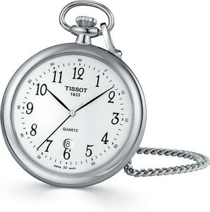 Tissot Lepine Quartz Pocket Watch (T82.6.550.12) free shipping Worldwide