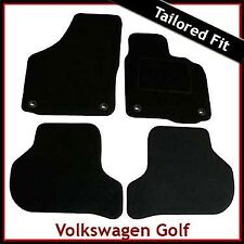 Volkswagen VW Golf Mk5 2003-2008 Oval Eyelets Tailored Carpet Car Mats BLACK