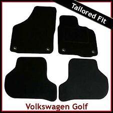 Volkswagen VW Golf Mk5 2003-2008 Oval Eyelets Tailored Carpet Car Mats BLACK