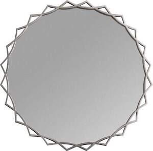 Arkeus Round Silver Wall Mirror