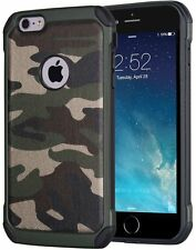 iPhone 7 Army Green Shockproof Drop Protective Case Military Guard Camo Cover