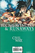 Marvel Civil War Young Avengers and Runaways comic issue 1