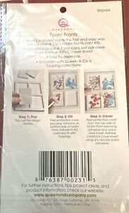 Queen & Co Foam Fronts Lot of 2 For Making Shaker Cards Set - Scallops