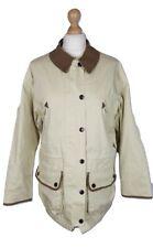 Q168 Barbour Ladies L/W Clean Classic Waterproof Hooded Cream Jacket, UK 12