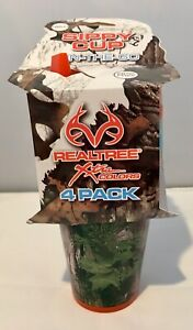 RealTree Xtra Colors Camo Orange Blue 18M+ Sippy Cup 4 Pack Set BPA FREE NEW!
