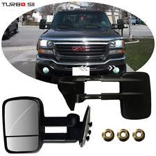 99 thru 06 GMC Sierra 1500 2500 3500 Left+Right Folding Manual Tow Side Mirrors