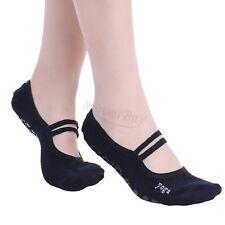 Women Cotton Yoga Gym Toe Ballet Non Slip Massage Barre Pilates Dance Socks