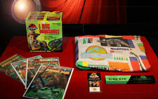 Rare JURASSIC PARK Lot - Bed SHEET, WATCH, COMICS, ID CARD, FOSSIL SET - Vintage