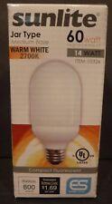 Sunlite SLJ14/27K 14-Watt Jar CFL Light Bulb, Medium E26 Base, Warm White