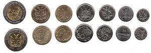 Namibia - Set 7 Coins 5 5 10 50 Cents 1 5 10 Dollars 2010 - 2015 UNC