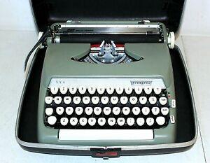 "Vintage Smith-Corona ""Sterling"" Typewriter w/Case, Sage Green, Clean, Works"