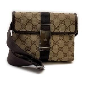 Gucci Waist Pouch Bag  Light Brown Canvas 1417439