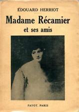 Édouard Herriot, Madame Récamier et ses amis (Payot, 1935)